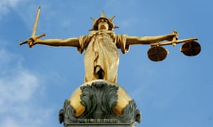 Lady Justice statue at the Old Bailey in London