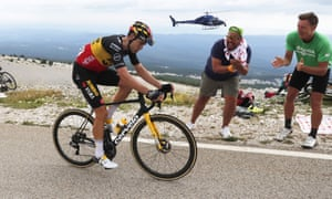 Wout van Aert heads up Ventoux for the second time on his way to a famous victory.