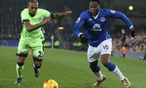 Everton's Romelu Lukaku v Manchester City