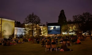 Film screening in the grounds of Dulwich Picture Gallery