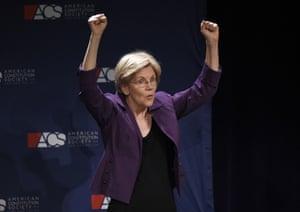 Sen. Elizabeth Warren in The Suzanne, in Washington this month.