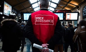 The gare Saint-Lazare in Paris during a two-day strike over plans to overhaul the heavily indebted train operator SNCF.