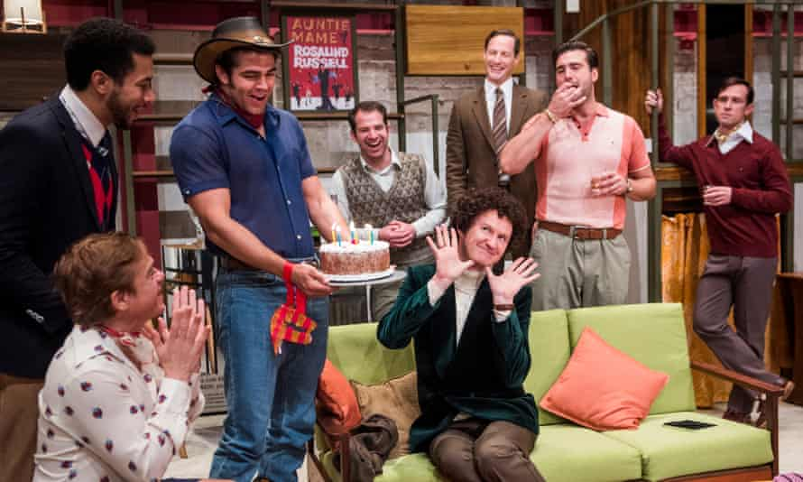 Mark Gatiss (centre) and Ian Hallard (far right) in The Boys in the Band.