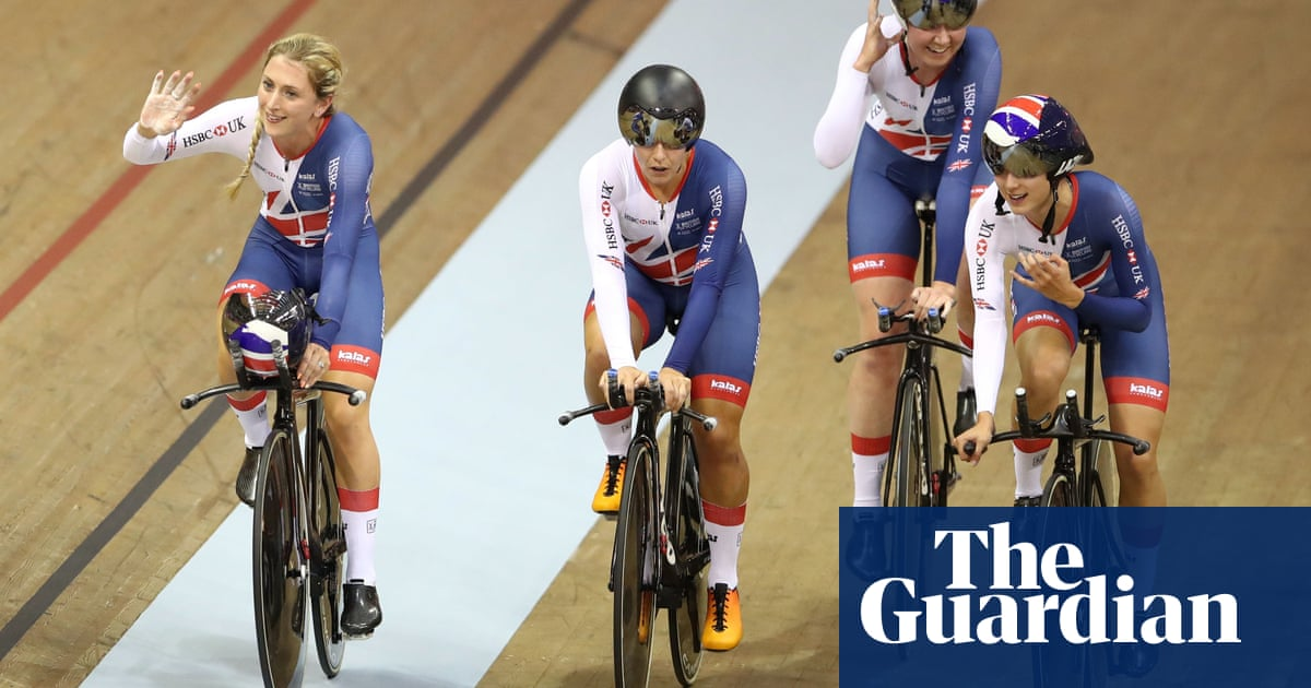 fd589d7ad5d Laura Kenny leads Great Britain to team pursuit gold as husband Jason  falters