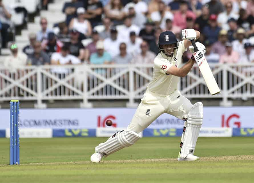 England captain Joe Root made a fine 64 before being trapped lbw by Shardul Thakur