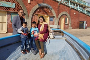 Liza Faruk and family, who were visiting Brighton from Worthing