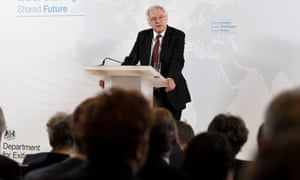 David Davis gives a speech on exiting the EU in Vienna
