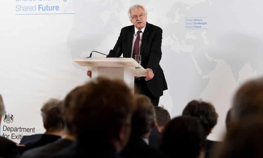 David Davis gives a speech on exiting the EU in Vienna