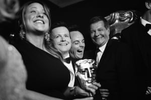 Amelia Brown, with Declan Donnelly, Ant McPartlin, and Nigel Hall