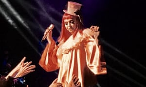 Madonna presents her cabaret comedy show at the Forum, Melbourne.
