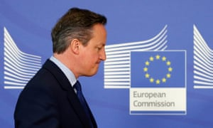 David Cameron in Brussels last month