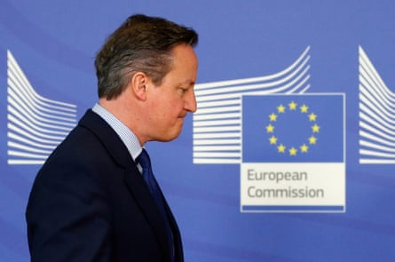 David Cameron at the European Commission  in Brussels in January 2016.