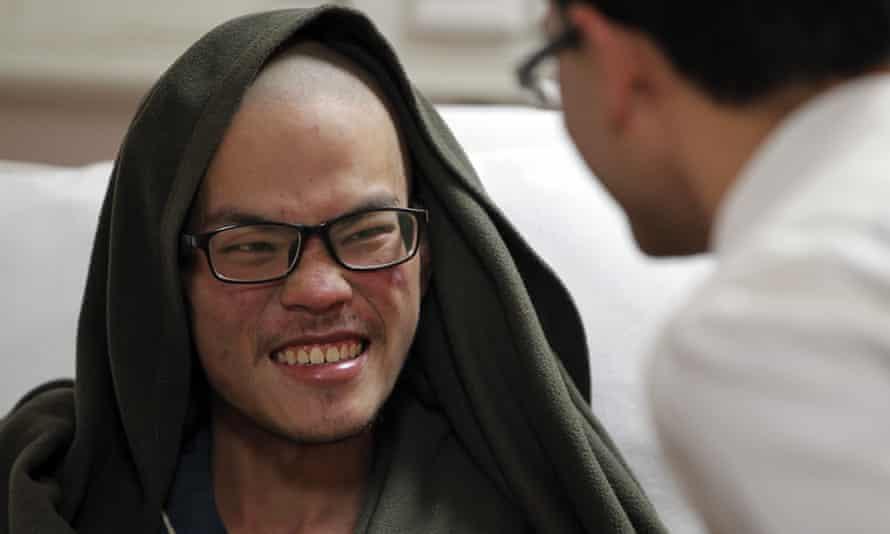 Liang Sheng-yueh in hospital in Kathmandu