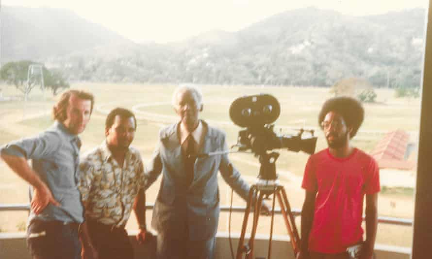 Dibb with CLR James for Beyond a Boundary, 1976.