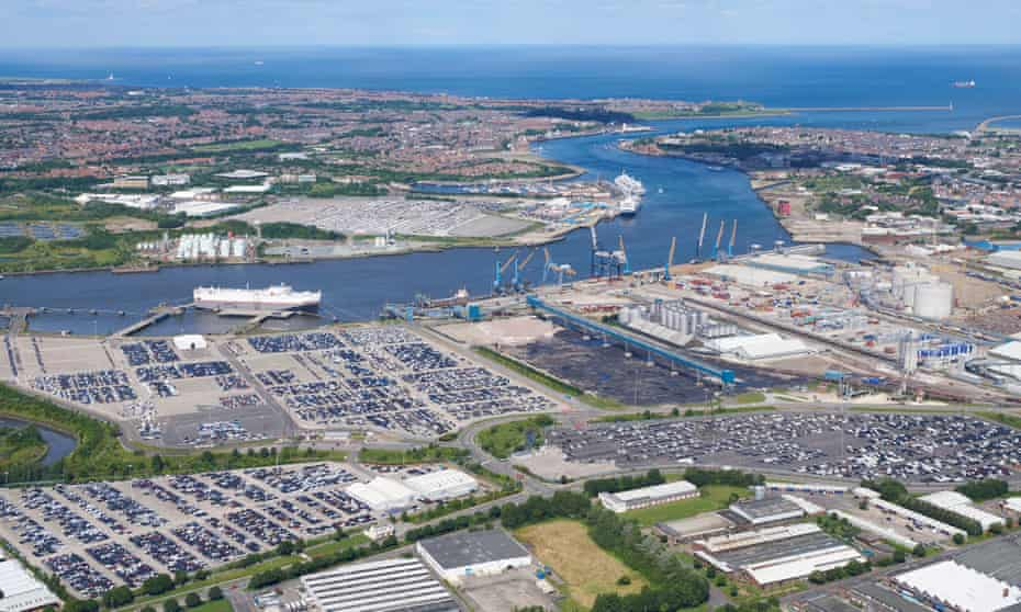 view of Port of Tyne, South Shields, North East England