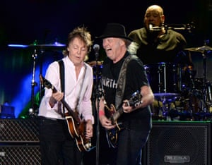 Paul McCartney and Neil Young share the stage at Desert Trip.