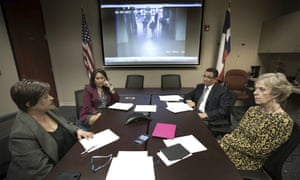 Local officials and the executive director of the Center Against Sexual and Family Violence hold a teleconference in El Paso concerning Irvin Gonzalez.