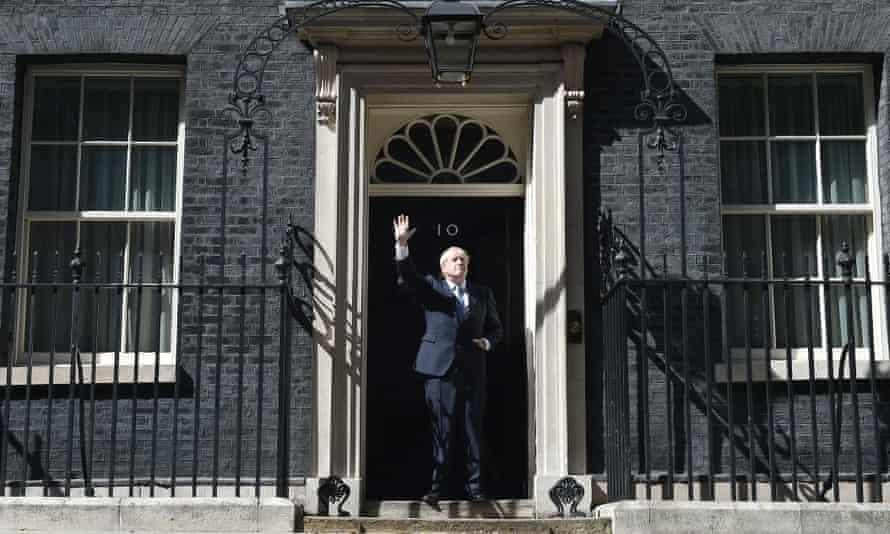 Boris Johnson arrives at 10 Downing Street