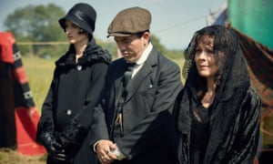 Lizzie Stark, Johnny Dogs and Aunt Polly at funeral