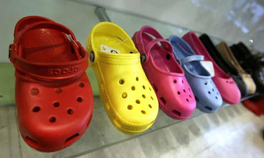 Crocs on display in a shop