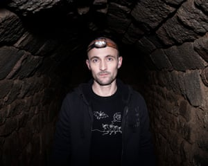 Arno Le Mou'l, bat conservationist'Arno spends much of his time underground, in the networks of tunnels beneath the castles and churches of the region, searching for bats sheltering in the darkness'