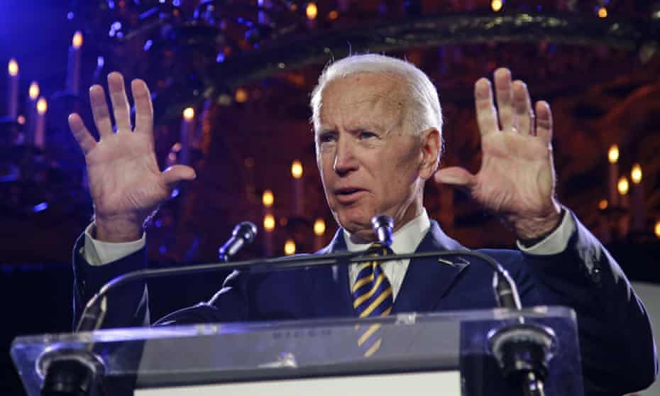 Joe Biden, speaking in New York on Tuesday, said Anita Hill should not have had to face a panel of 'a bunch of white guys'.