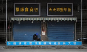 The closed seafood market in Wuhan which has been linked to the coronavirus outbreak.