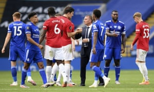 Leicester 0 2 Manchester United Solskjaer S Side Finish Third As It Happened Football The Guardian