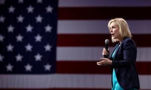Kirsten Gillibrand speaks during the Presidential Gun Sense Forum in Des Moines, Iowa, 10 August 2019.