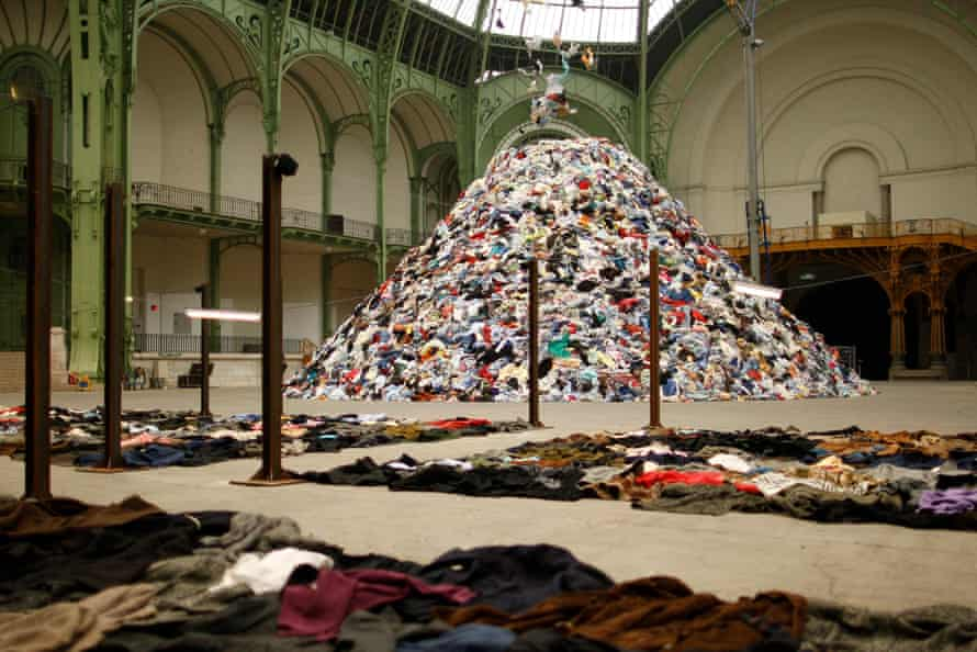 Christian Boltanski's work Personnes at the Monumenta 2010 event at the Grand Palais in Paris.
