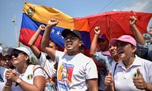 Venezuelans protest against Nicolás Maduro on 12 February.