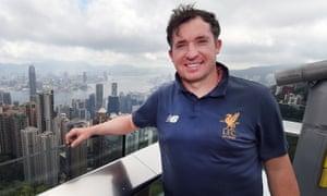 Robbie Fowler in Hong Kong.