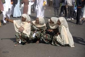 Muslims gather for Eid al-Fitr prayers