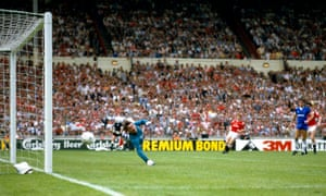 Southall is beaten by Norman Whiteside's shot in extra time at Wembley in 1985 as Manchester United won the FA Cup final 1-0.