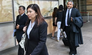 Defence lawyers for Kho Jabing leave the  supreme court in Singapore after his appeal was rejected