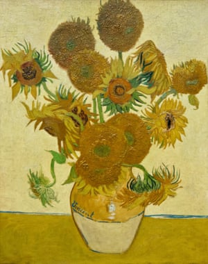 Sunflowers (1888) by Vincent Van Gogh.