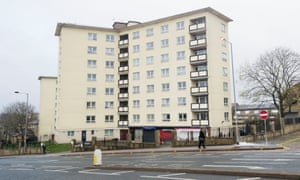 Newcastle House in Bradford, where baby Elliot Procter fell from a sixth-floor window.