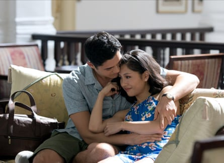 With Constance Wu in Crazy Rich Asians.