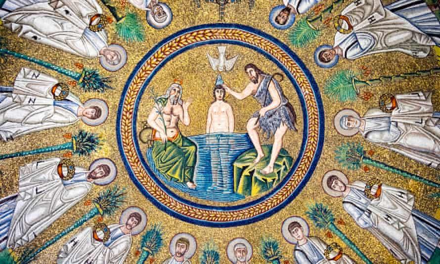Mosaico del Battesimo di Gesù, nel Battesimo ariano di Ravenna.