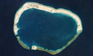 Artificial island development in the South China Sea.