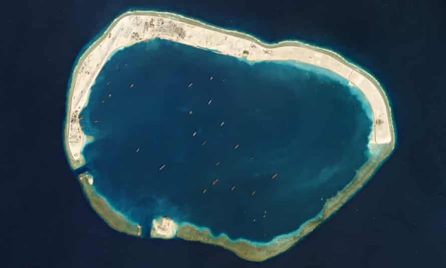 Artificial island development in the South China Sea.