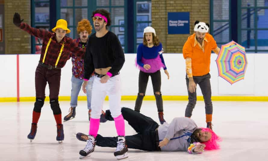 'It's mainly nonsense' … a rehearsal of Tony Law and Friends in the Battle for Icetopia.