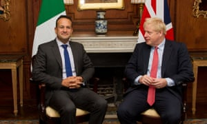 Leo Varadkar  and Boris Johnson meet at Thornton Manor hotel, Cheshire on 10 October