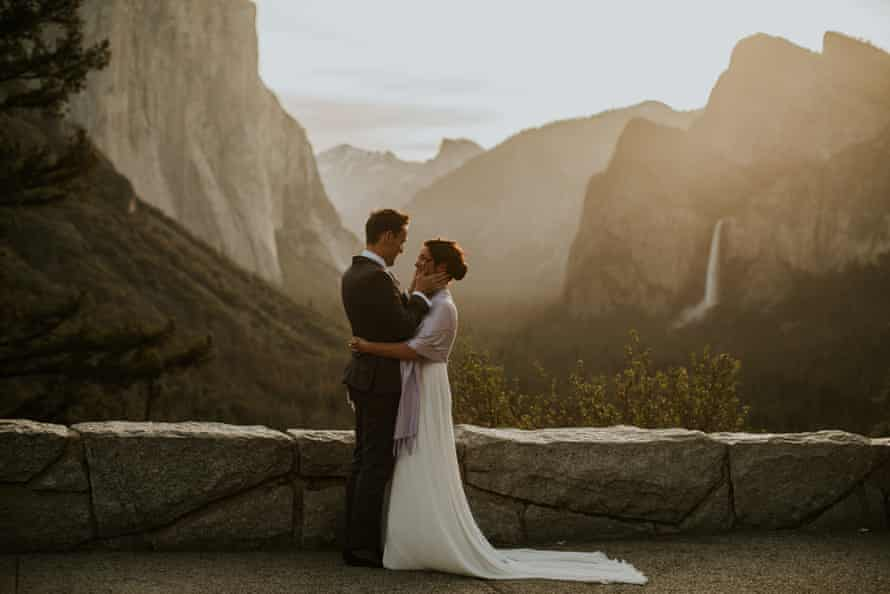 Helen and Mike got married in Yosemite national park.