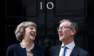 Theresa May, with her husband, Philip, became prime minister on 13 July 2016