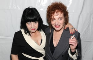 Lydia Lunch with photographer Nan Goldin at the Kitchen NYC last year.