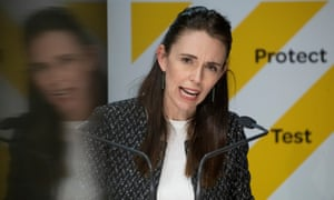 New Zealand prime minister Jacinda Ardern announces plans for easing of Auckland's Covid-19 restrictions during a press conference on 4 October, 2021.