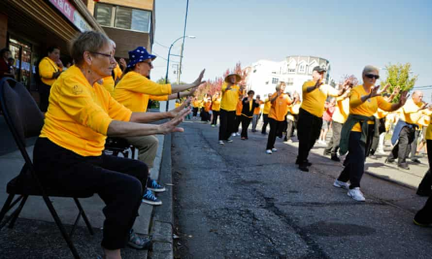 A tai chi awareness day in Vancouver.
