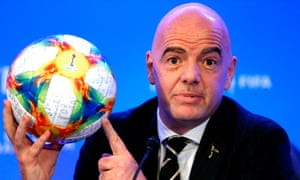 Gianni Infantino said he was 'a very happy man' after Fifa's ruling council approved his plans for a new Club World Cup
