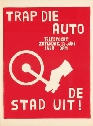 Poster saying: 'Kick that car out of the city!'